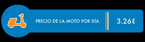 Precio moto por día - Viaje en Mochila