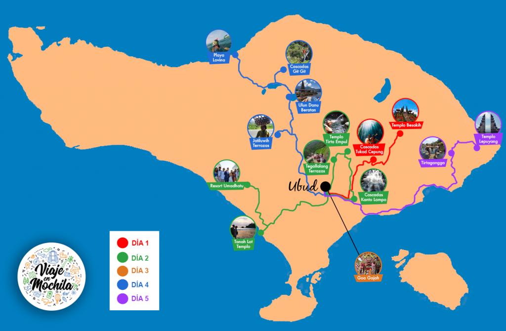 Ruta por Bali 5 días - Viaje en Mochila