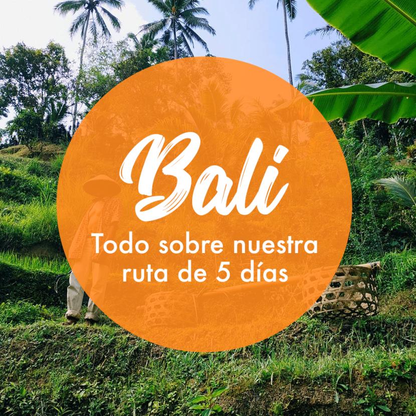 Ruta 5 días por Bali - Viaje en Mochila
