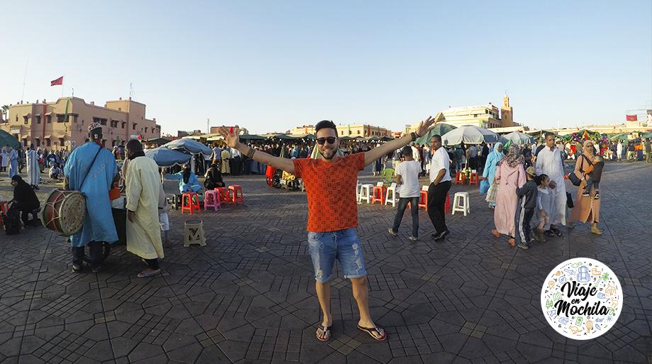 plaza Jamaa el Fna-Marrakech-Marruecos-Viaje en Mochila