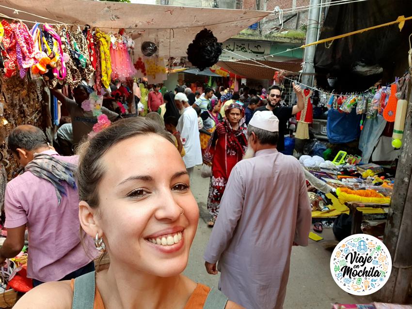 Viaje en Mochila - mercados de Delhi
