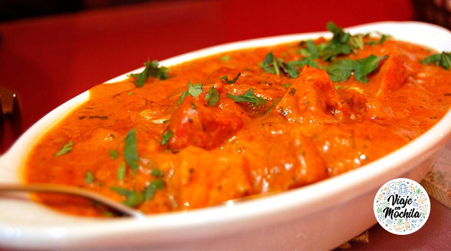 Pollo Tikka Masala - Comida de India - Viaje en Mochila